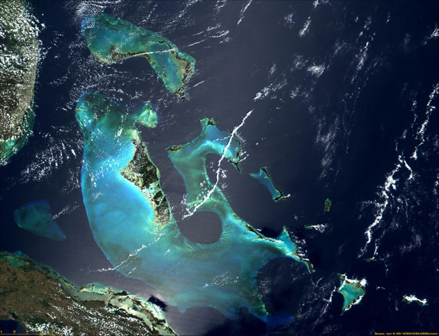 Bahamas Satellitenbild